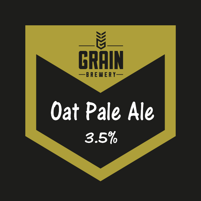 Pump clip of Oat Pale Ale 3.5%