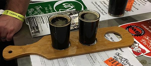 flight of dark beers