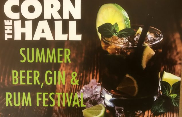 Corn Hall Diss Summer Beer, Gin and Rum Festival poster