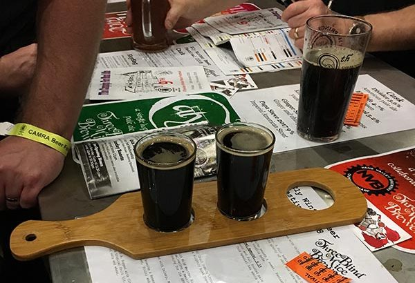 Ely dark beer flight